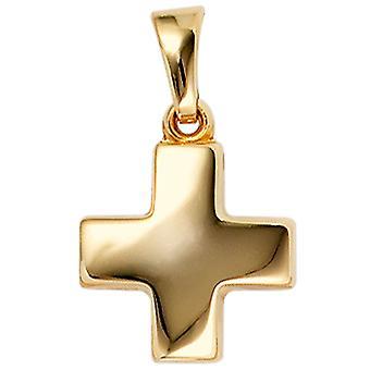 goldenes Kreuzchen Kreuzanhänger gold schlicht Anhänger Kreuz 333 Gold Gelbgold