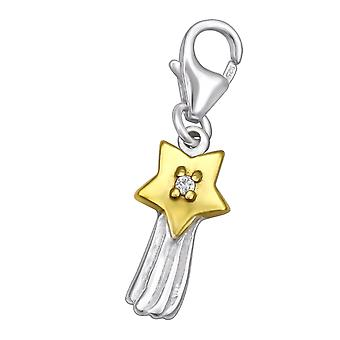 Shooting Star - 925 Sterling Silver Charms With Lobster - W31056x