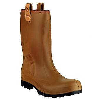 Dunlop Rig Air Brown Safety Wellington Boots