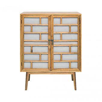 Blanc armoire en bois moderne et brun avec 2 portes-Mobile Re4806-Rebecca