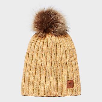 Neue Alpine Damen Lucy Winter tragen warm Bobble Hut gelb