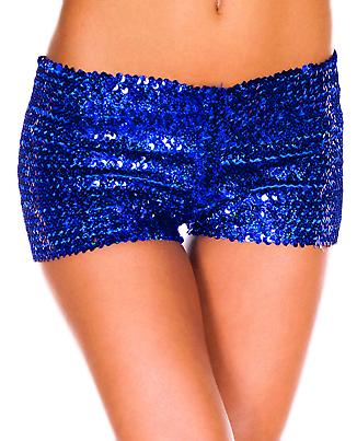 Waooh 69 - Mini Short From Sequins Embroidered Mesh Halley