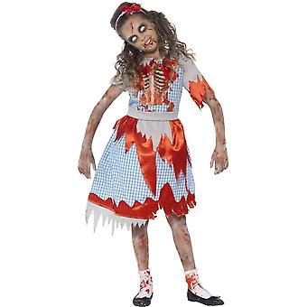 Zombie Country Girl Costume, Small Age 4-6