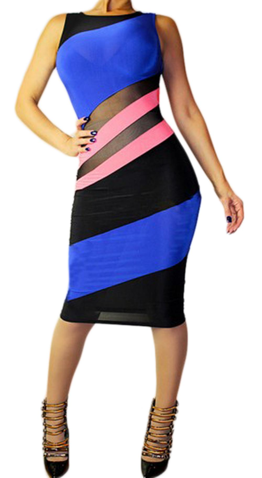 Waooh - Dresses With Colorful Strips Thian