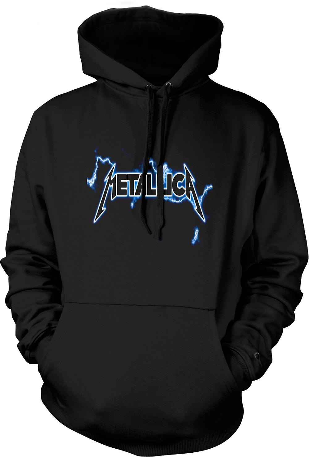 Mens hettegenser - Metallica Logo - Rock Metal