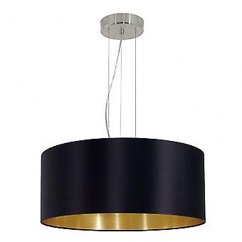Eglo MASERLO nowoczesny czarny i złoty odcień sufitu Lampa wisząca
