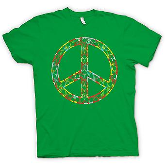 Herr T-shirt - blommig Peace Sign - CND