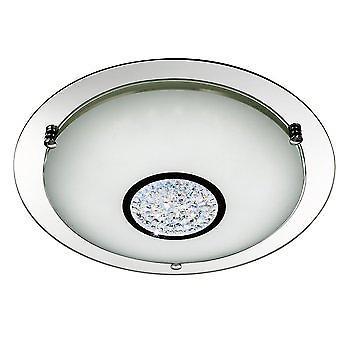 Searchlight 2773-41 LED Chrome Crystal Semi Flush Ceiling Light