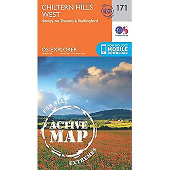 OS Explorer Map Active (171) Chiltern Hills West, Henley-on-Thames and Wallingford (OS Explorer Active Map)