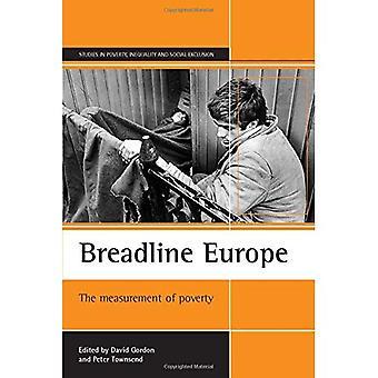Breadline Europe: Mesure de la pauvreté