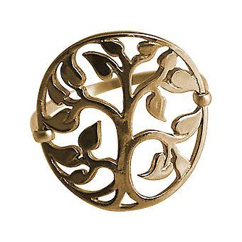 Gemshine YOGA Ring mit Lebensbaum in 925 Silber, hochwertig vergoldet oder rose