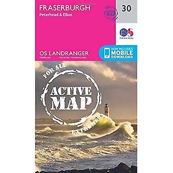 Fraserburgh, Peterhead & Ellon (OS Landranger Map)
