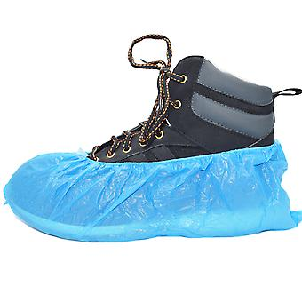 Pack of 100 Simply Direct Standard Disposable Shoe Covers/Overshoes. Floor, Carpet, Shoe Protectors CPE 2.7g - Fits up to Size 11 (UK) / 44 (EU) Shoes and Boots