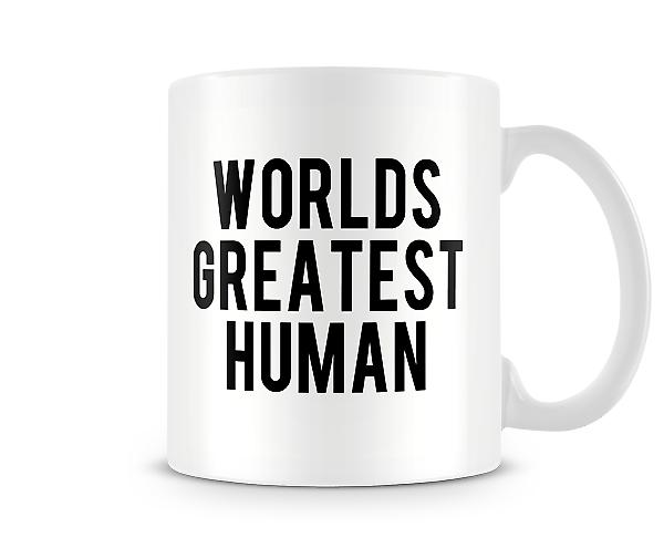 The Worlds Greatest Human Mug