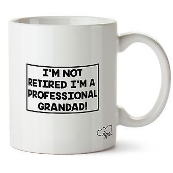 Hippowarehouse I'm Not Retired I'm A Professional Grandad 10 oz Mug