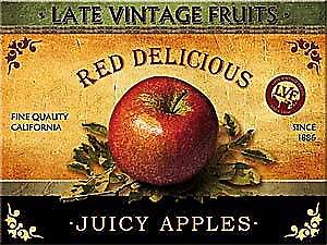 Juicy Apple ad. steel fridge magnet