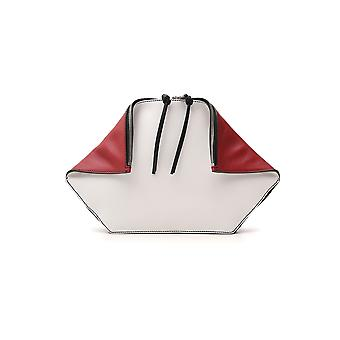 Alexander Mcqueen White/red Leather Clutch