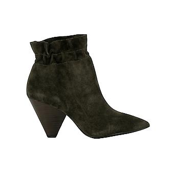 Ash Dafne Green Suede Ankle Boots