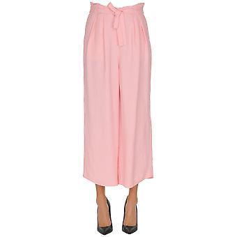 Gotha Pink Viscose Pants