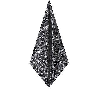 Dobell Mens Black Large Paisley Handkerchief