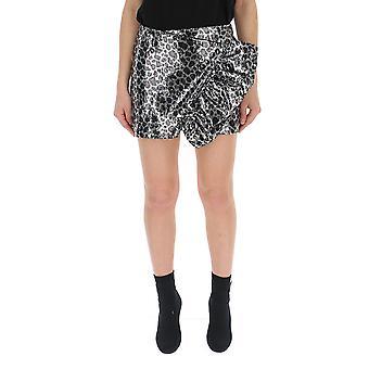 Laneus Silver Glitter Skirt