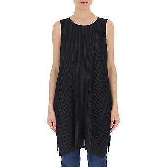 Issey Miyake Black Polyester Blouse