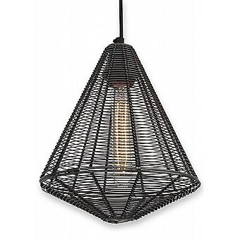 Handcrafted Unique Vintage Cage Wire Metal Pendant Light - Cone 9