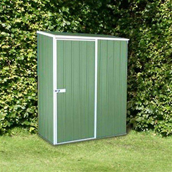 Mercia Absco Compact Green Metal Shed - 1.53m x 0.78m