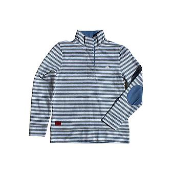 Stripe Funnel Neck Sweat - White