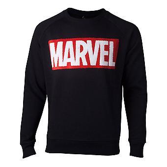 Marvel tröja chenille Box logo mens tröja svart Large (SW806672MVL-L)