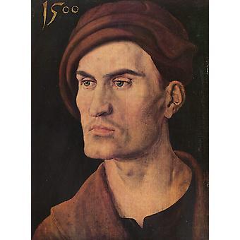 Portrait of a young man,nee Rieter,Albrecht Durer,29x21cm