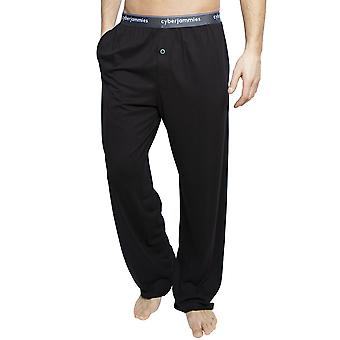 Cyberjammies 6395 Uomo Isaac Black Cotton Pyjama Pant