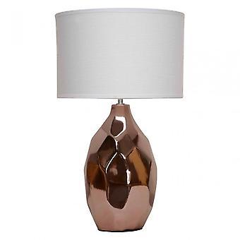 Premier Home West Table Lamp, Ceramic, Linen, Copper