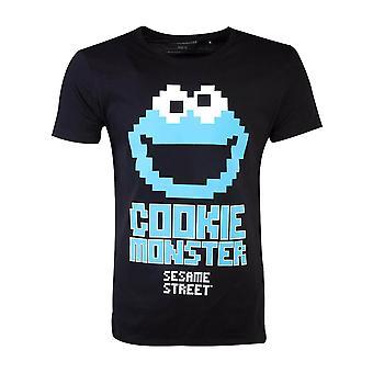 Men's Sesame Street Cookie Monster Black T-Shirt