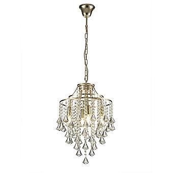 Diyas Inina Pendant 4 Light E14 French Gold/Crystal