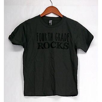 Neste nivå Apparel T-skjorte topp kort ermet fjerde klasse Rocks grå