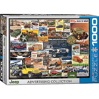 Jeep Vintage Ads 1000 piece jigsaw puzzle 680mm x 490mm  (pz)