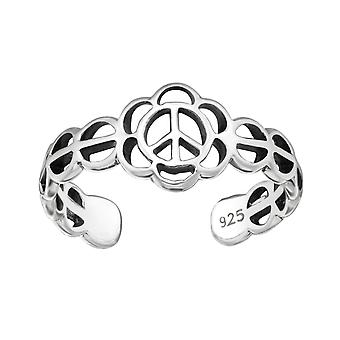 Flor - 925 anillos de plata del dedo del pie - W3827X