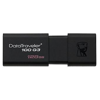 Pendrive Kingston 128 GB Black DT100G3
