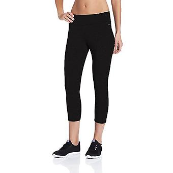 Jockey Women-apos;s Capri Legging avec Wide Waistband, Deep, Deep Black, Size Large