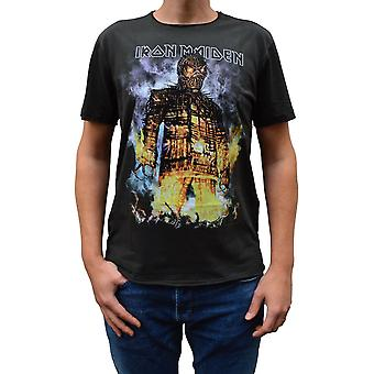 Amplified Iron Maiden The Wicker Man Charcoal Crew Neck T-Shirt L