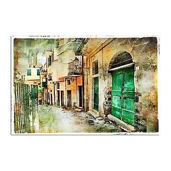 Płótno, obraz na płótnie, ulica starego miasta