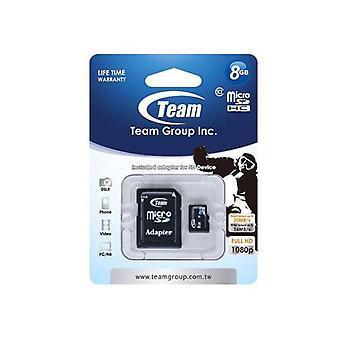 Tarjeta de memoria de grupo de equipo microSDHC Clase 10
