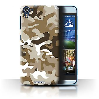 STUFF4 Case/Cover for HTC Desire 826/Brown 1/Camouflage Army Navy