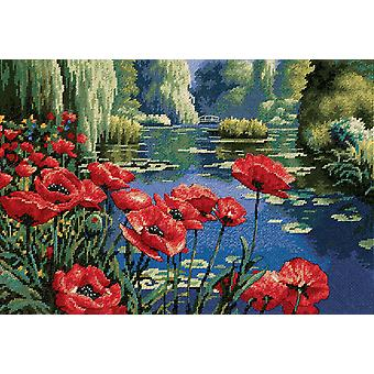 Lakeside Poppies Needlepoint Kit 16