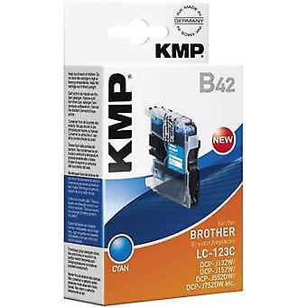 KMP replaced Brother LC-123 Compatible Cyan B42 1525,0003