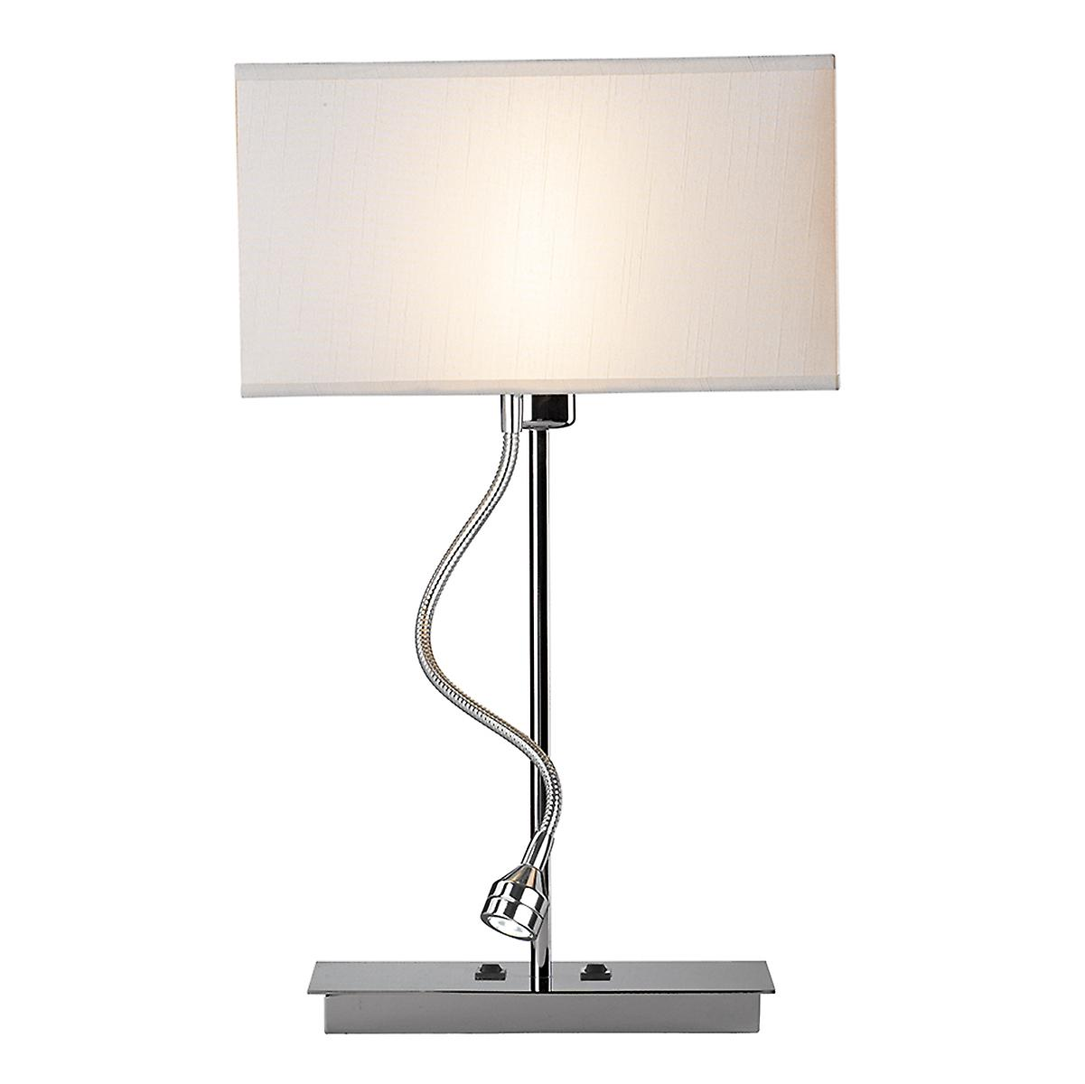 Dar AMA4050 Amalfi Switched Table Lamp With Led Flexi Arm Without Shade