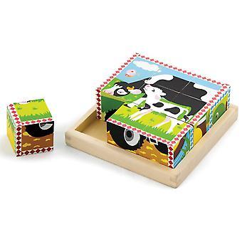 Puzzle New Classic Toys: auf dem Bauernhof 16 x 16 cm