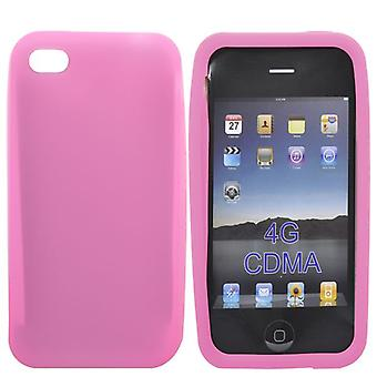 Capot de Lisa, en Silicone, pour iPhone 4/4 s (rose)