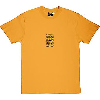 Crime and Punishment Opening Lines Men's T-Shirt